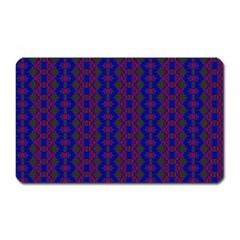 Split Diamond Blue Purple Woven Fabric Magnet (rectangular) by AnjaniArt
