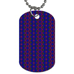 Split Diamond Blue Purple Woven Fabric Dog Tag (one Side) by AnjaniArt