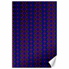 Split Diamond Blue Purple Woven Fabric Canvas 24  X 36  by AnjaniArt