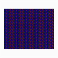 Split Diamond Blue Purple Woven Fabric Small Glasses Cloth (2-side) by AnjaniArt