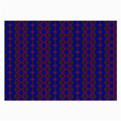 Split Diamond Blue Purple Woven Fabric Large Glasses Cloth (2 Side) by AnjaniArt