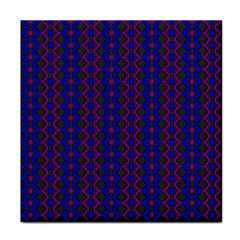 Split Diamond Blue Purple Woven Fabric Face Towel by AnjaniArt