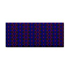 Split Diamond Blue Purple Woven Fabric Cosmetic Storage Cases by AnjaniArt