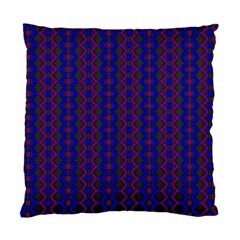 Split Diamond Blue Purple Woven Fabric Standard Cushion Case (two Sides) by AnjaniArt
