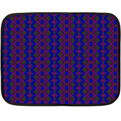 Split Diamond Blue Purple Woven Fabric Double Sided Fleece Blanket (mini)  by AnjaniArt