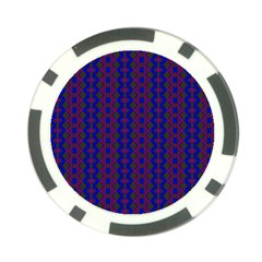 Split Diamond Blue Purple Woven Fabric Poker Chip Card Guard (10 Pack) by AnjaniArt