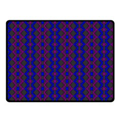 Split Diamond Blue Purple Woven Fabric Fleece Blanket (small) by AnjaniArt