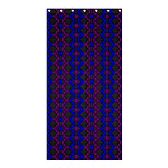 Split Diamond Blue Purple Woven Fabric Shower Curtain 36  X 72  (stall)  by AnjaniArt