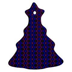 Split Diamond Blue Purple Woven Fabric Christmas Tree Ornament (two Sides) by AnjaniArt