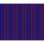 Split Diamond Blue Purple Woven Fabric Deluxe Canvas 14  x 11  14  x 11  x 1.5  Stretched Canvas