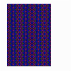 Split Diamond Blue Purple Woven Fabric Large Garden Flag (two Sides) by AnjaniArt