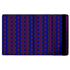 Split Diamond Blue Purple Woven Fabric Apple Ipad 2 Flip Case by AnjaniArt