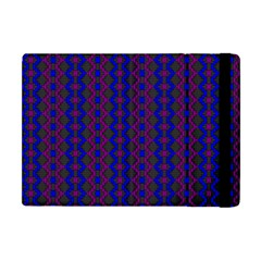 Split Diamond Blue Purple Woven Fabric Apple Ipad Mini Flip Case by AnjaniArt