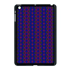 Split Diamond Blue Purple Woven Fabric Apple Ipad Mini Case (black) by AnjaniArt