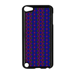 Split Diamond Blue Purple Woven Fabric Apple Ipod Touch 5 Case (black)