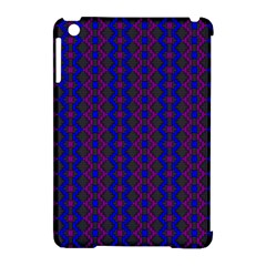 Split Diamond Blue Purple Woven Fabric Apple Ipad Mini Hardshell Case (compatible With Smart Cover) by AnjaniArt
