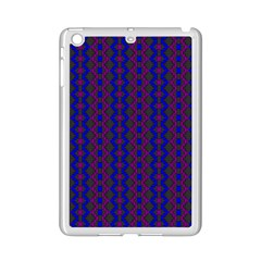 Split Diamond Blue Purple Woven Fabric Ipad Mini 2 Enamel Coated Cases by AnjaniArt