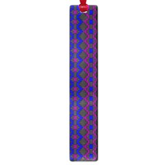 Split Diamond Blue Purple Woven Fabric Large Book Marks by AnjaniArt