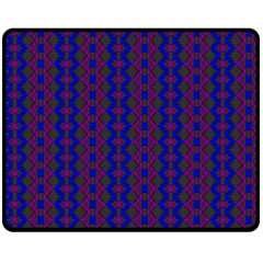 Split Diamond Blue Purple Woven Fabric Double Sided Fleece Blanket (medium)  by AnjaniArt