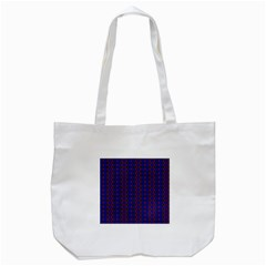 Split Diamond Blue Purple Woven Fabric Tote Bag (white) by AnjaniArt