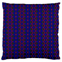 Split Diamond Blue Purple Woven Fabric Large Flano Cushion Case (one Side) by AnjaniArt