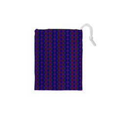 Split Diamond Blue Purple Woven Fabric Drawstring Pouches (xs)  by AnjaniArt