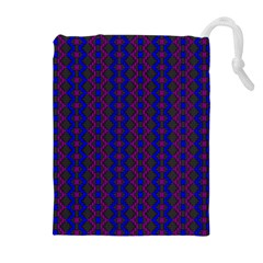 Split Diamond Blue Purple Woven Fabric Drawstring Pouches (extra Large) by AnjaniArt