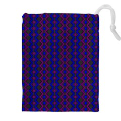 Split Diamond Blue Purple Woven Fabric Drawstring Pouches (xxl) by AnjaniArt