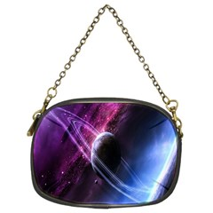 Space Pelanet Saturn Galaxy Chain Purses (two Sides)