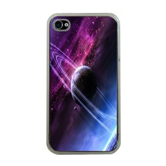 Space Pelanet Saturn Galaxy Apple Iphone 4 Case (clear) by AnjaniArt
