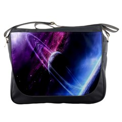 Space Pelanet Saturn Galaxy Messenger Bags
