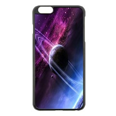 Space Pelanet Saturn Galaxy Apple Iphone 6 Plus/6s Plus Black Enamel Case by AnjaniArt