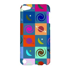 Space Month Saturnus Planet Star Hole Multicolor Apple Ipod Touch 5 Hardshell Case by AnjaniArt