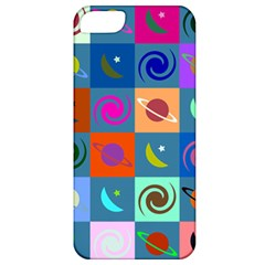 Space Month Saturnus Planet Star Hole Multicolor Apple Iphone 5 Classic Hardshell Case