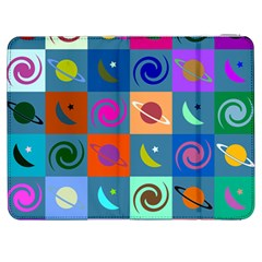 Space Month Saturnus Planet Star Hole Multicolor Samsung Galaxy Tab 7  P1000 Flip Case