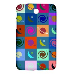 Space Month Saturnus Planet Star Hole Multicolor Samsung Galaxy Tab 3 (7 ) P3200 Hardshell Case  by AnjaniArt