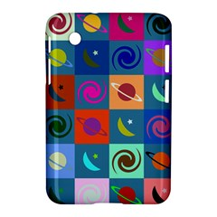 Space Month Saturnus Planet Star Hole Multicolor Samsung Galaxy Tab 2 (7 ) P3100 Hardshell Case  by AnjaniArt