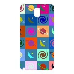 Space Month Saturnus Planet Star Hole Multicolor Samsung Galaxy Note 3 N9005 Hardshell Back Case