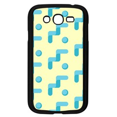 Squiggly Dot Pattern Blue Yellow Circle Samsung Galaxy Grand Duos I9082 Case (black) by AnjaniArt