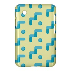 Squiggly Dot Pattern Blue Yellow Circle Samsung Galaxy Tab 2 (7 ) P3100 Hardshell Case  by AnjaniArt