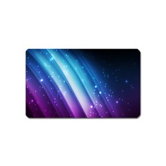 Space Purple Blue Magnet (name Card) by AnjaniArt