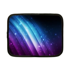 Space Purple Blue Netbook Case (small)  by AnjaniArt
