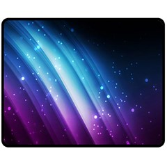 Space Purple Blue Fleece Blanket (medium)