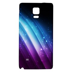 Space Purple Blue Galaxy Note 4 Back Case by AnjaniArt