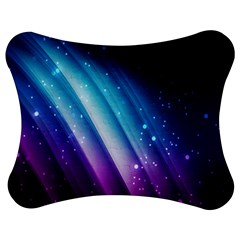 Space Purple Blue Jigsaw Puzzle Photo Stand (bow) by AnjaniArt