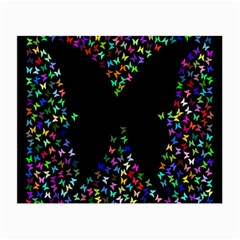 Space Butterflies Small Glasses Cloth