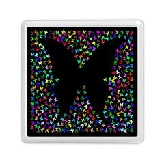 Space Butterflies Memory Card Reader (square)  by AnjaniArt
