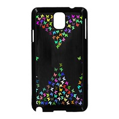 Space Butterflies Samsung Galaxy Note 3 Neo Hardshell Case (black) by AnjaniArt