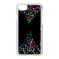 Space Butterflies Apple Iphone 7 Seamless Case (white)