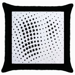 Star Throw Pillow Case (black) by AnjaniArt